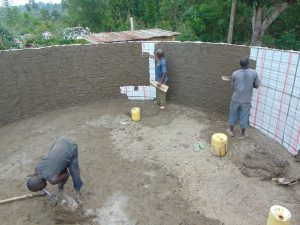 The Water Project:  Inside Plaster Of The Tank Walls