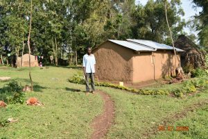 The Water Project:  Silas Burudi Outside His Home