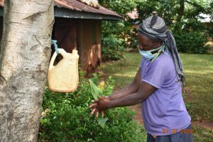 The Water Project:  Everlyne Washes Her Hands With Soap At Home