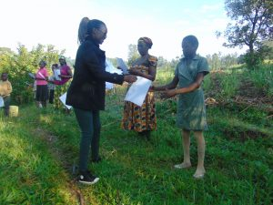 The Water Project:  Ms Olivia Issuing The Handouts