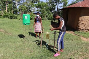The Water Project:  A Community Member Washing Her Hands