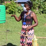 The Water Project: Musango Community, Dawi Spring -  Ms Jemimah Leading A Training Session