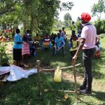The Water Project: Mwituwa Community, Shikunyi Spring -  Covid Sensitization Ongoing
