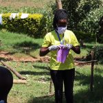 The Water Project: Mwituwa Community, Shikunyi Spring -  Mask Making Practical At The Training