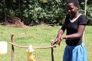 The Water Project:  A Community Member Following Handwashing Steps