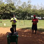 The Water Project: Mwituwa Community, Nanjira Spring -  Mask Making