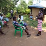 The Water Project: Mwituwa Community, Nanjira Spring -  Training On Proper Mask Wearing
