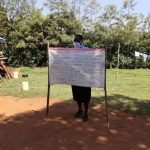 The Water Project: Mwituwa Community, Nanjira Spring -  Use Of Reminder Charts At The Training