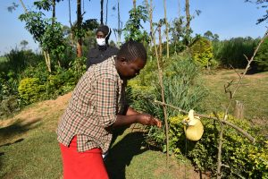 The Water Project:  A Community Member Using The Handwashing Station