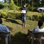The Water Project: Esembe Community, Chera Spring -  Mask Making Demonstration