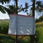 The Water Project: Esembe Community, Chera Spring -  The Reminder Chart At The Water Point