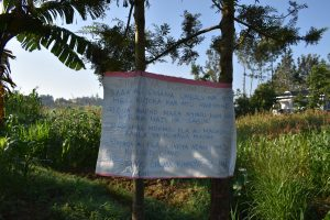 The Water Project:  The Reminder Chart At The Water Point