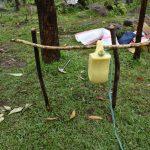 The Water Project: Burachu B Community, Maji Mazuri Spring -  A Set Up Handwashing Station