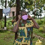 The Water Project: Burachu B Community, Maji Mazuri Spring -  Proper Mask Wearing Training