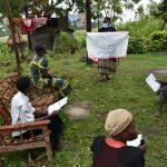 The Water Project: Burachu B Community, Maji Mazuri Spring -  Using Reminder Charts
