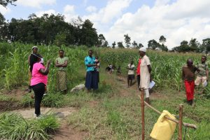 The Water Project:  Team Leader Catherine Addressing The Community