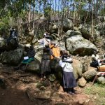 The Water Project: Upper Visiru Community, Wambosani Spring -  Elbow Cough