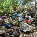 The Water Project: Upper Visiru Community, Wambosani Spring -  Training Under Trees On Rocky Grounds