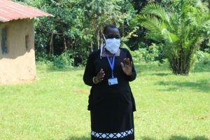The Water Project:  Facilitator With Mask On