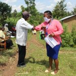 The Water Project: Lukova Community, Wasike Spring -  New Safer Greetings In The Community