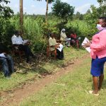 The Water Project: Lukova Community, Wasike Spring -  Ongoing Covid Sensitization Training