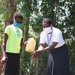 The Water Project: Sambuli Community, Nechesa Spring -  Handwashing Demonstration