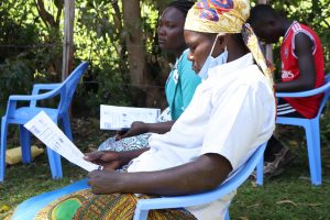 The Water Project:  Participants Following Training Using Handouts