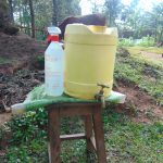 The Water Project: Shihungu Community, Shihungu Spring -  A Handwashing Station Installed At The Community