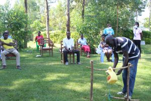 The Water Project:  A Community Elder Leads A Handwashing Session