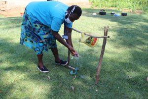 The Water Project:  Handwashing Using The Installed Handwashing Point