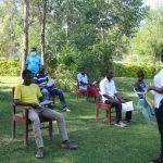 The Water Project: Emukangu Community, Okhaso Spring -  Ongoing Covid Sensitization