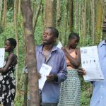 The Water Project: Eshiasuli Community, Eshiasuli Spring -  Community Members Following The Training