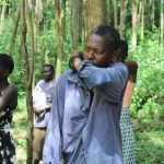 The Water Project: Eshiasuli Community, Eshiasuli Spring -  Coughing Into The Elbow