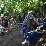 The Water Project: Shamiloli Community, Kwasasala Spring -  New Safer Greetings Practiced At The Training