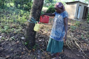 The Water Project:  Filling The Handwashing Station With Clean Water