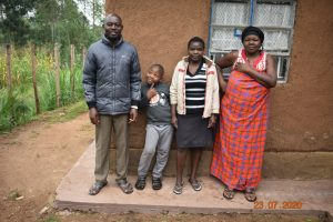 The Water Project:  Niskson With Part Of His Family