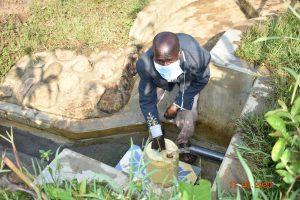 The Water Project:  David Kweyu Fetching Water