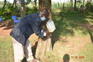 The Water Project:  David Kweyu At His Hand Washing Station