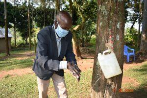 The Water Project:  David Kweyu At His Handwashing Station