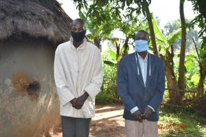 The Water Project:  David Kweyu With The Chair Of The Water User Committee