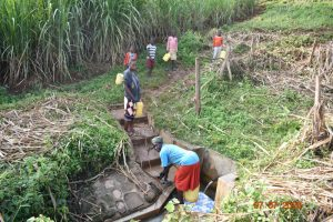 The Water Project:  Catherine And Grandchildren Fetching Water