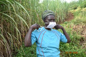 The Water Project:  Catherine Puts On Her Mask