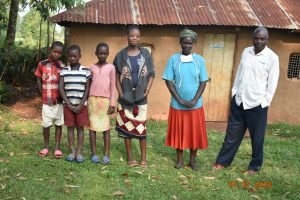 The Water Project:  Catherine With Her Husband And Grandchildren