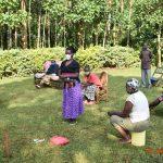 The Water Project: Shikhombero Community, Atondola Spring -  Serilah Actively Participating During Covid Training