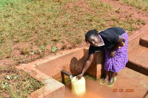 The Water Project:  Serilah Fetching Water At Atondola Spring
