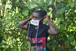 The Water Project:  Serilah Puts On Her Mask