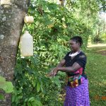 The Water Project: Shikhombero Community, Atondola Spring -  Serilah Washes Her Hands