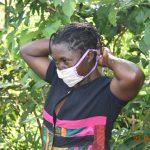The Water Project: Shikhombero Community, Atondola Spring -  Serilah Wearing Her Mask