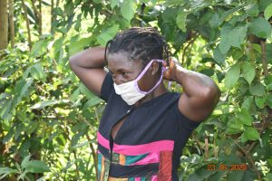 The Water Project:  Serilah Wearing Her Mask