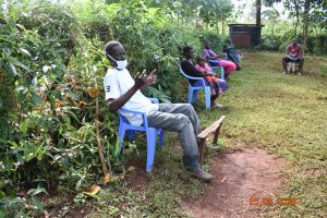 The Water Project:  Simon Mulongo Actively Participating During A Training